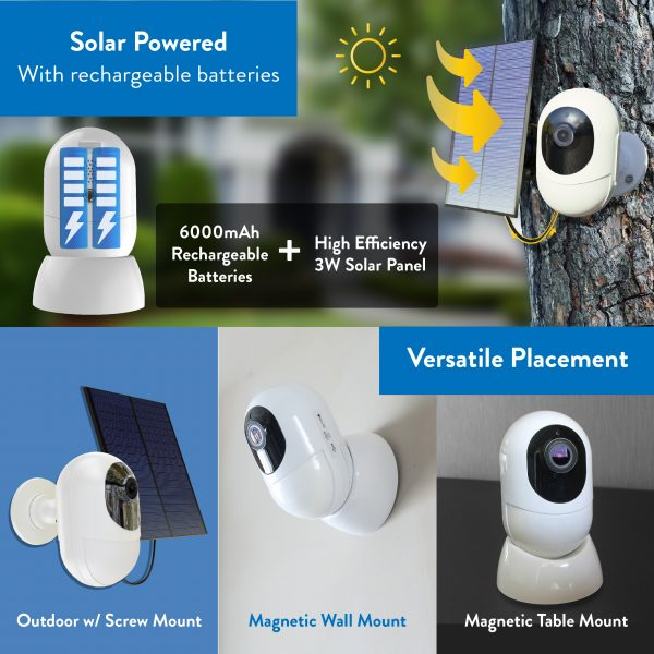 operated outdoor security camera